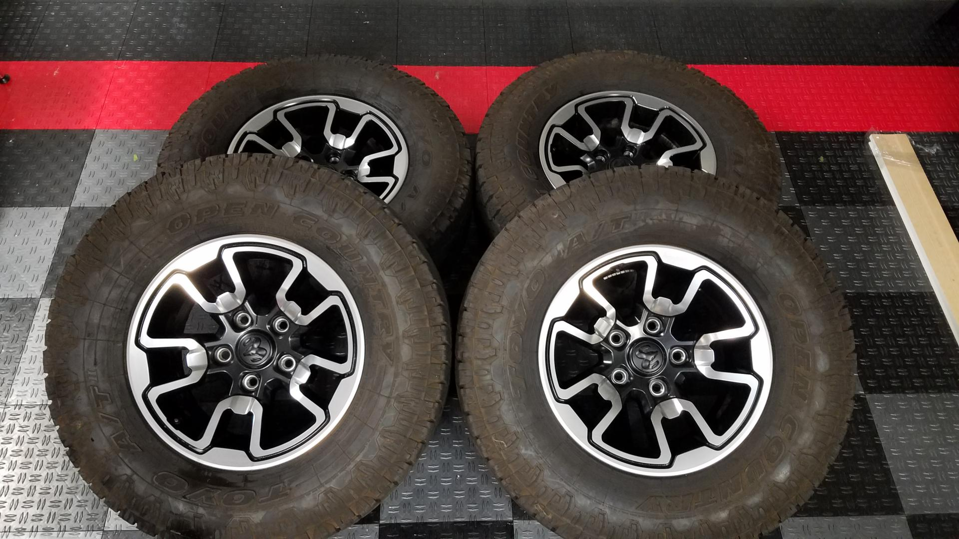 2016 OEM Wheels & Tires For Sale (CA) - Ram Rebel Forum